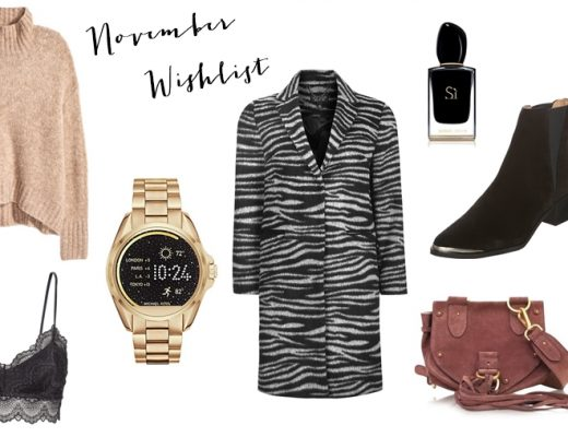 A collage showing my november wishlist